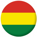 Bolivia Civil Flag 58mm Button Badge